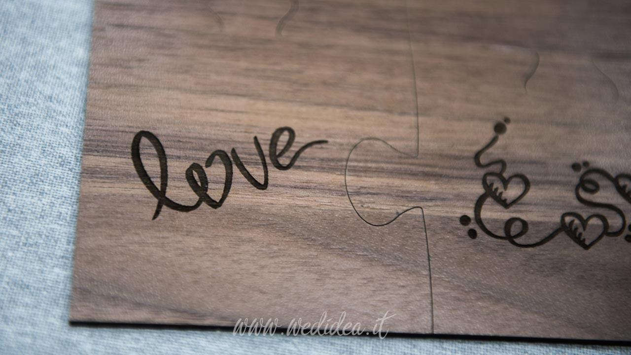 Bomboniera personalizzata scritta love
