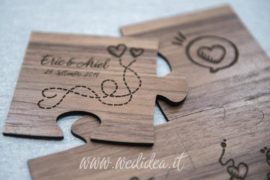Puzzle su legno con cuore