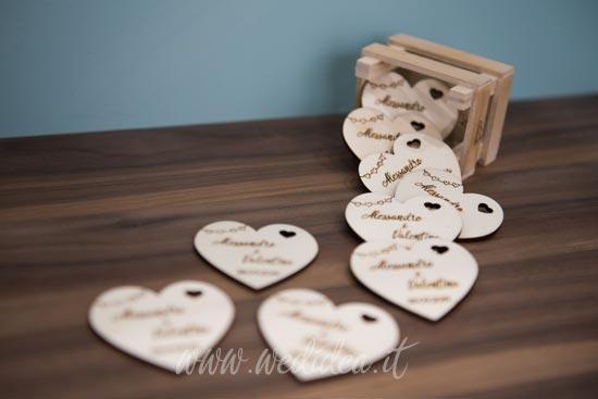 Segnaposti personalizzati matrimonio con nomi degli sposi