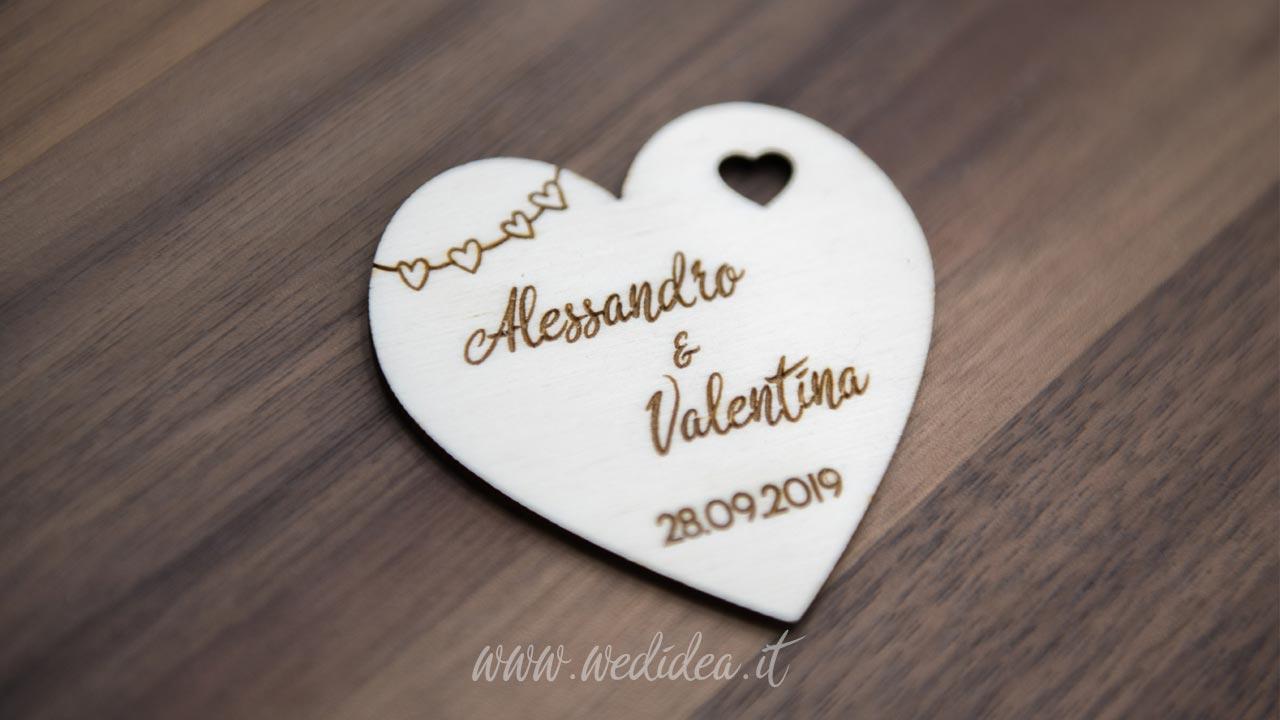 Segnaposto personalizzato cuore - Wedidea.it
