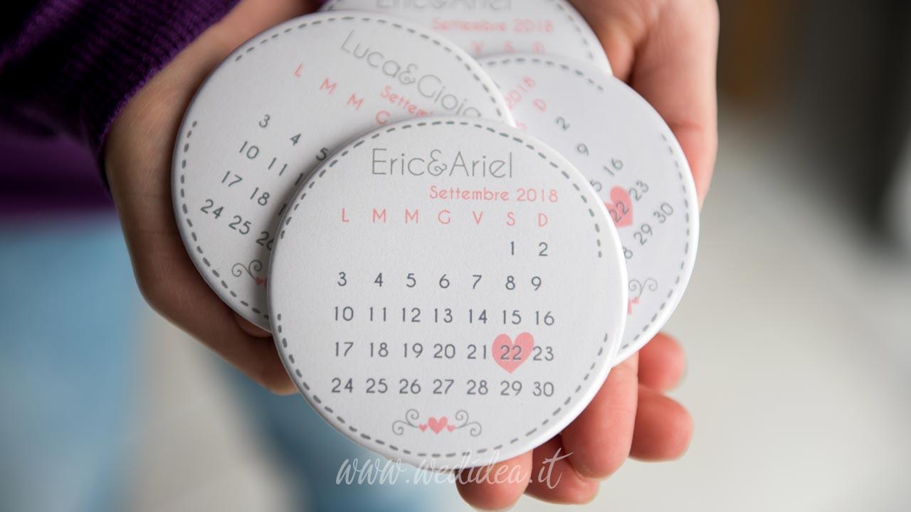 Magneti calendario matrimonio