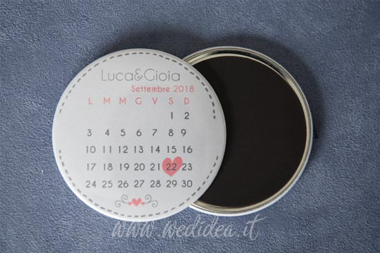 Save the date magnete con calendario