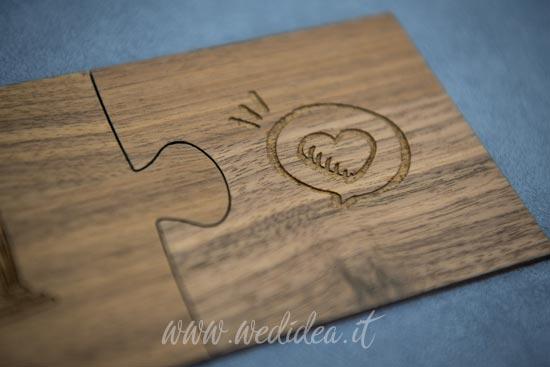 Puzzle matrimonio legno 2 pezzi