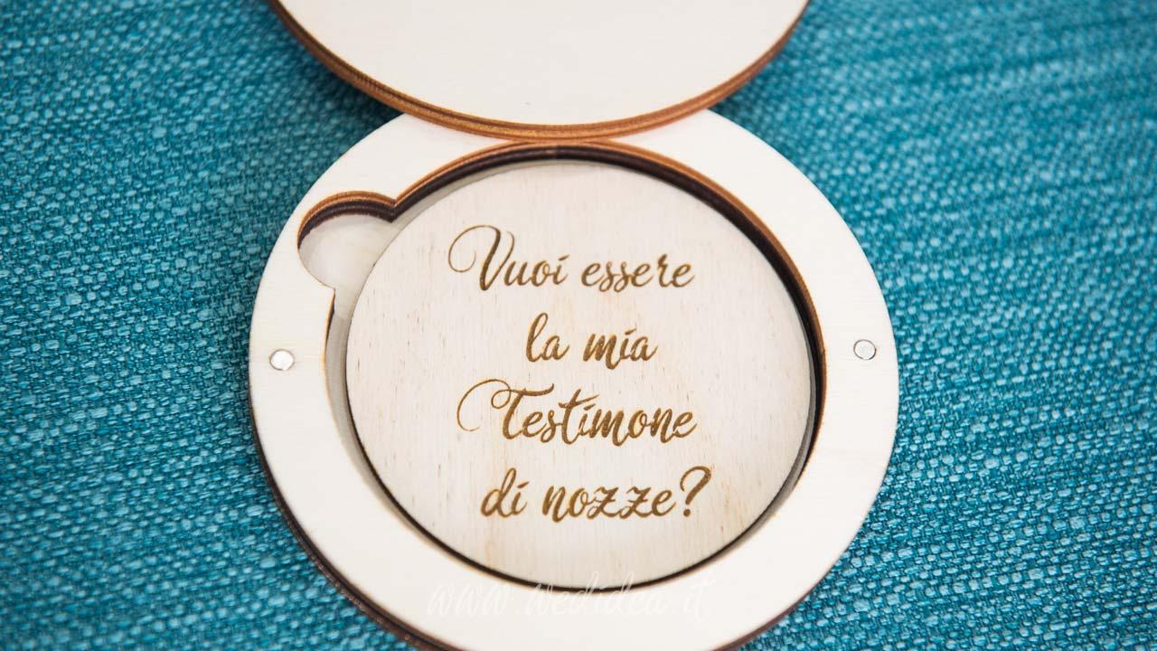Vuoi essere la mia testimone di nozze?