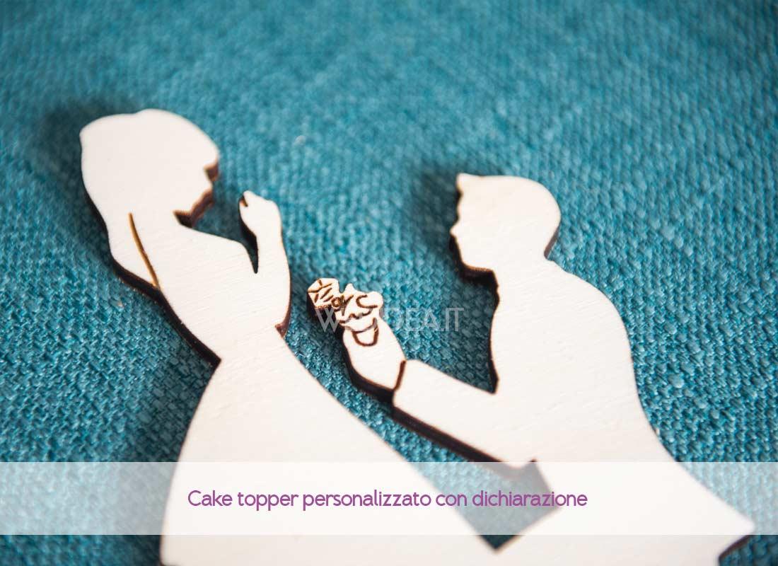 Cake topper personalizzato in legno