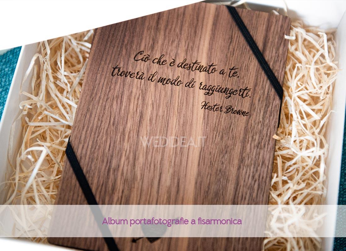 Album fotografie personalizzato in legno