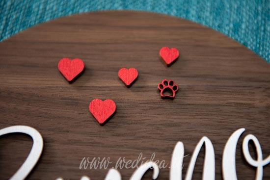 Fuoriporta personalizzato con zampa animale di casa