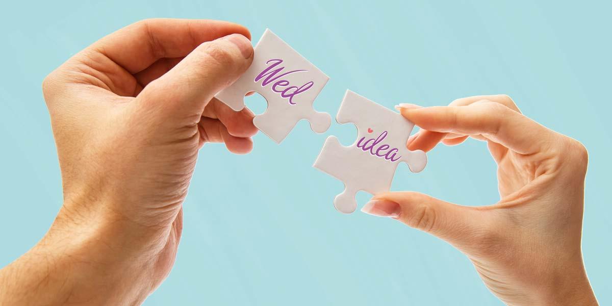Matrimonio a tema puzzle