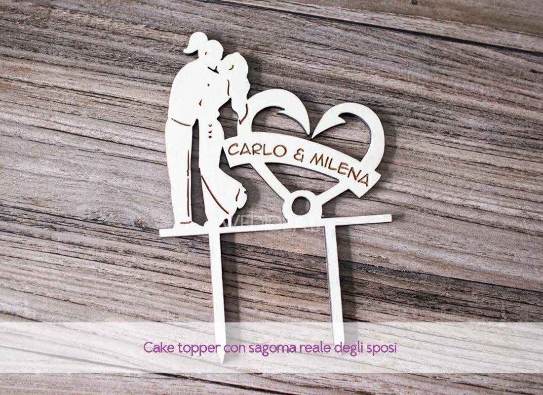 Cake topper in legno personalizzato